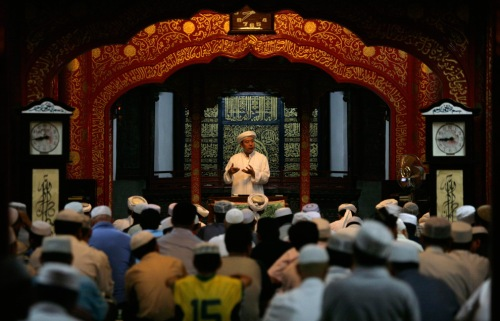 muslim attend friday prayers