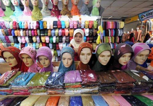 vendor of headscarfs
