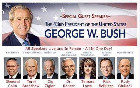 george w bush as motivational speaker